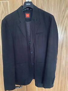 Hugo Boss Mens Blazer - Boss Orange - Handcrafted - Black - Size 40R