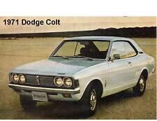 1971 Dodge Colt  Auto Refrigerator / Tool Box Magnet Man Cave Gift Item
