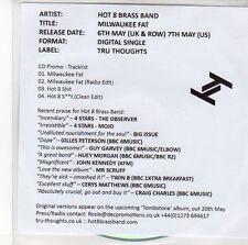 (EE25) Hot 8 Brass Band, Milwaukee Fat - 2013 DJ CD
