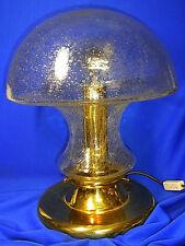 Mid Century Brass & Glass Huge Mushroom Desk Lamp #<