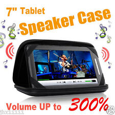 "7"" Music Speaker Audio Dock Case Protect Android Tablet PC ALDI KMART Onix Pendo"