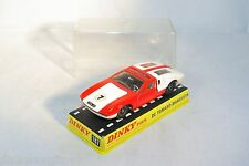 DINKY TOYS 187 DE TOMASO MANGUSTA ORANGE / WHITE MINT BOXED