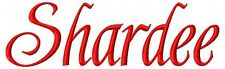 Shardee Font Machine Embroidery Designs on CD in 5 sizes for 390 files