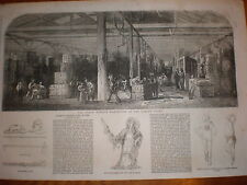 Almacén de tabaco Londres Muelles de impresión de 1856