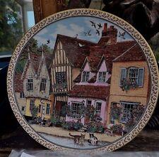 Royal Worcester Collectors Plate Village Lavenham  2 Cats Swallows Original Box