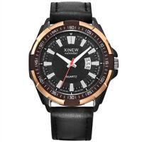 Fashion Mens Aviator Automatic Mechanical Leather Band Quartz Wrist Watch Cheap