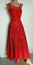 Vintage 40s 50s Red Taffeta Sequin Fancy Party Dress