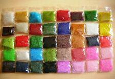 30 Farben 45000Stk Glas Rocailles Roccailles Perlen Rund 2mm 2,2mm 11/0 600g Z23