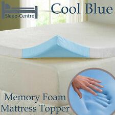 LAVISH COOL BLUE MEMORY FOAM MATTRESS TOPPER + ALL SIZES,DEPTHS & COVER OPTIONS