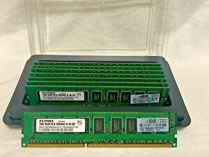 8GB (8x1GB) 1Rx8 PC3-10600E -9-10-DP Elpida Memory Cards !!