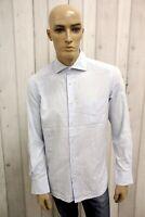 HUGO BOSS Uomo Camicia Camisa Shirt Casual Cotone Manica Lunga Taglia L