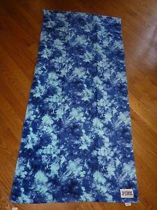 "VICTORIAS SECRET PINK FLORAL BLUE BEACH BATH TOWEL 28"" X 58"" ""PINK"" NWT"