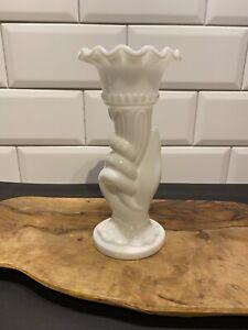 Victorian Milk Glass Hand Vase