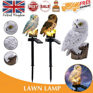 Garden LED Owl Solar Lights Patio Yard Lawn Stake Ornament Lamp Party Decor UK