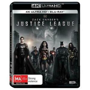 Zack Snyder's Justice League 4K Ultra + Blu-Ray BRAND NEW Region B