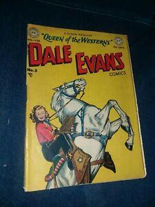 Dale Evans Comics #3 dc 1949 golden age precode Toth Art western good girl art