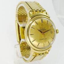 """Omega """"Grand Luxe"""" 18ct Gelbgold Chronometer ca.1966 sehr seltenes Gold-Armband"""