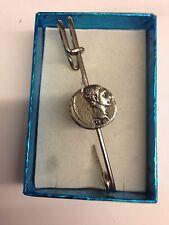 """Augustus WE-C2 Roman Coin kilt pin Scarf  pin pewter emblem 3"""" 7.5 cm"""