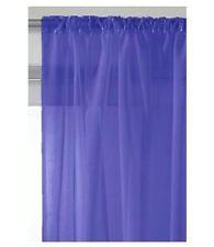 Rideaux et cantonnières bleus en voile pour la chambre