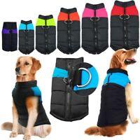 Waterproof Pet Dog Warm Padded Jacket Vest Coat Clothes Puppy Winter Apparels US