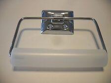 CHROME Toilet Paper Tissue Holder Plastic Roller Wire Stirup (Vintage Style)