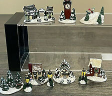 OOAK Miniature Artist Handmade Christmas Village by C. Rohal 10 Pieces Awesome