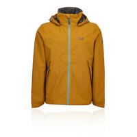 Jack Wolfskin Mens Evandale Jacket Top Orange Sports Outdoors Full Zip Hooded