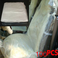 Universal 100pcs Disposable Plastic Car Seat Covers Protectors Mechanic Valet