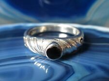 Rx Anneau Noir Onyx Spiralförmige Monture En Argent Fin 925