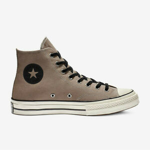 Converse Mens Chuck 70 Vintage High Top Lace Up Sepia Stone Grey Canvas Trainers