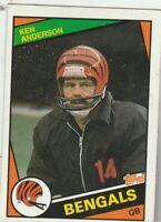 FREE SHIPPING-VG-1984 Topps Ken Anderson Cincinnati Bengals #34 PLUS BONUS CARDS
