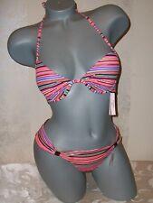 NWT Victoria Secret Stripe Fabulous Swimsuit  34A XS Hottie Bikini