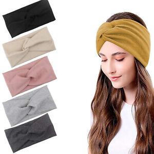 5X Haarband Stirnband Damen breit Hair Bands Sommer Stretch Bandana YOGA Bewegun