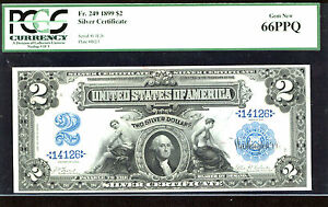 1899, $2 FR # 249  Silver Certificate - PCGS-66PPQ-8 IN THIS GRADE-LOW SERIAL