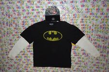 MEN'S DC COMICS BATMAN SCREEN PRINT LONG SLEEVE SHIRT XXLARGE WITH BEANIE 2XL