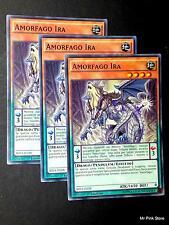 Set 3X AMORFAGO IRA Amorphage Wrath SHVI-IT028 Comune in Italiano YUGIOH