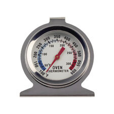 Stainless Steel Oven Thermometer Stand Up or Hang Analog display