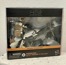 """Star Wars Black Series 6"""" Vehicle Speeder Bike Trooper Figure The Child IN HAND"""