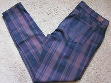Paige Indio Zip Smitten Plaid 1771212-1509 Womens Size 32 Skinny Jeans Pants NWT