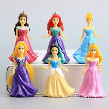 Princess Rapunzel Belle Snow White Aurora Ariel Cinderella Dolls Action Figure