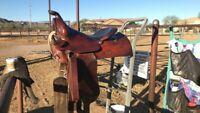 "15"" Semi-Quarter Horse Bar- Lightly Used Simco Western Saddle Model # 3537"