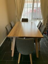 6 seater dining table and chairs used
