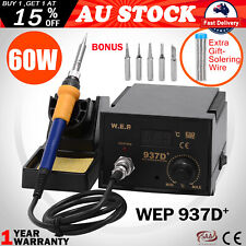 75w Power Electric Soldering Iron ESD Safe Solder Station 6 Tip Lead Welding Kit