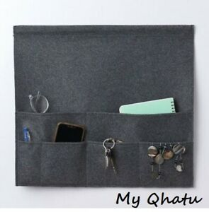 "New IKEA PALLAT Bed pocket, dark gray organizer with storage pockets 17 ¾x19 ¾ """