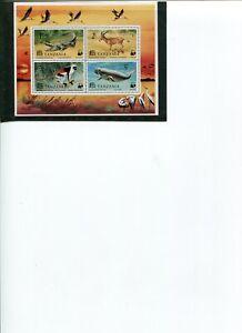 1977 WWF TANZANIA Endangered Species S/S MNH POST-FREE
