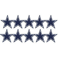 """Dallas Cowboys Football Logo Badge Size 3.0""""x3.0"""" Sew Iron Embroidered Patch"""