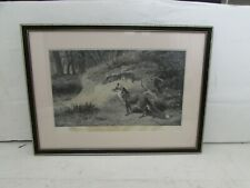 Archibald Thorburn Signed Engraving, Fox, Swan Electric Engraving Co.