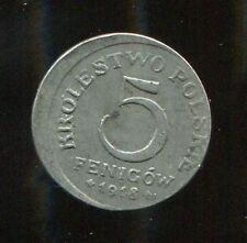 Münzen des deutschen Reichs aus dem geplanten Königreich Polen