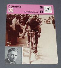 FICHE CYCLISME 1928 NICOLAS FRANTZ LUXEMBOURG TOUR FRANCE WIELRIJDER CICLISMO