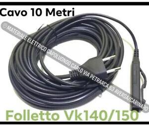 Cavo Folletto Filo da 10mt Folletto VK140 VK150 Vorwerk Compatibile